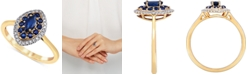 Macy's Sapphire (5/8 ct. t.w.) & Diamond (1/6 ct. t.w.) Ring in 14k Gold
