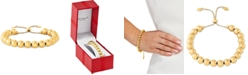 Giani Bernini Beaded Bolo Bracelet in Sterling Silver, Created for Macy's
