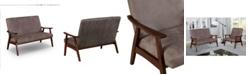 Furniture of America Lometa Upholstered Loveseat