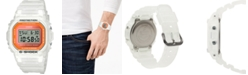 G-Shock Men's Digital Frosted White Resin Strap Watch 42.8mm