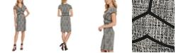 DKNY Contrast-Trim Sheath Dress