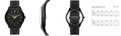 Michael Kors Unisex Slim Runway Black-Tone Stainless Steel Bracelet Watch 42mm