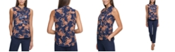 Tommy Hilfiger Floral-Print Ruffled Top