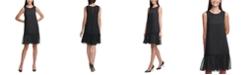 Tommy Hilfiger Metallic-Dot Chiffon Dress