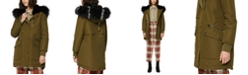 Marc New York Carina Faux-Fur-Trim Hooded Parka Coat