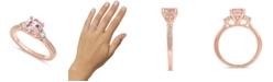Macy's Gemstone Bridal Morganite (1 1/4 ct. t.w.) & Diamond (1/3 ct. t.w.) Engagement Ring in 14k Rose Gold