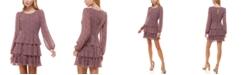 Trixxi Juniors' Tiered Floral-Print Fit & Flare Dress