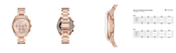 Michael Kors Women's Janelle Rose Gold-Tone Stainless Steel Bracelet Watch 42mm