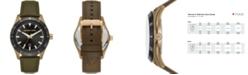 Michael Kors Men's Layton Olive Leather Watch 44mm
