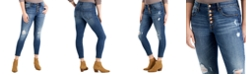 Celebrity Pink Juniors' High-Rise Curvy Skinny Ankle Jeans