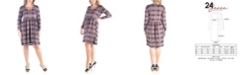 24seven Comfort Apparel Women's Plus Size Empire Waist Pleated Dress