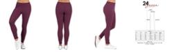 24seven Comfort Apparel Women's Waffle Fabric Ankle Cuff Sweatpants