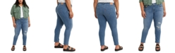 Levi's Trendy Plus Size  711 Ripped Skinny Jeans