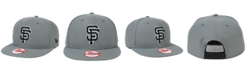 New Era San Francisco Giants Gray Black White 9FIFTY Snapback Cap