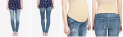 Motherhood Maternity Medium Wash Distressed Skinny Jeans