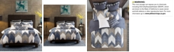 INK+IVY Alpine Reversible Full/Queen Chevron Stripe Print Comforter Mini Set