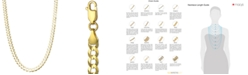 """Italian Gold 22"""" Curb Chain Necklace (4-5/8mm) in Solid 14k Gold"""