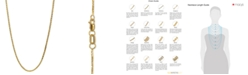 "Macy's 14k Gold Necklace, 18"" Diamond Cut Wheat Chain (9/10mm)"