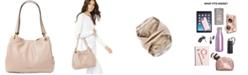 Michael Kors Raven Pebble Leather Tote