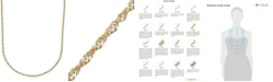 """Italian Gold 18"""" Two-Tone Perfectina Chain Necklace (1-1/3mm) in 14k Gold"""