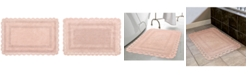 "Laura Ashley Crochet Cotton Reversible 17"" x 24"" Bath Rug"
