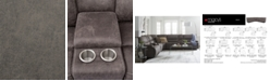 """Furniture Felyx 97"""" 3-Pc. Fabric Power Reclining Sofa With 2 Power Recliners, Power Headrests, Console And USB Power Outlet"""