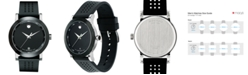 Movado Men's Swiss Museum Sport Black Perforated Rubber Strap Watch 42mm 0606507