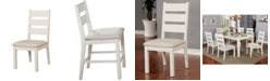 Furniture of America Gwen Weathered White Side Chair (Set of 2)