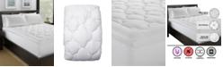 Ella Jayne Lofty 100% Cotton Plush Gel Fiber Filled Mattress Pad - California King