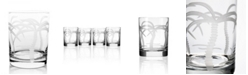 Rolf Glass Palm Tree Double Old Fashioned 14Oz - Set Of 4 Glasses