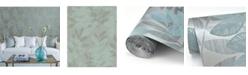 "Brewster Home Fashions Chimera Flocked Leaf Wallpaper - 396"" x 20.5"" x 0.025"""