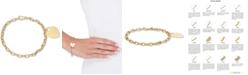 Macy's Heart Pendant Chain Bracelet in 10k Gold