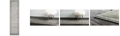"""Bridgeport Home Aldrose Ald4 Light Gray 2' 7"""" x 10' Runner Area Rug"""