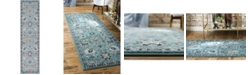 "Bridgeport Home Wisdom Wis1 Light Blue 2' 7"" x 10' Runner Area Rug"