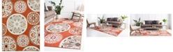 Bridgeport Home Pashio Pas4 Terracotta 9' x 12' Area Rug