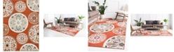 Bridgeport Home Pashio Pas4 Terracotta 7' x 10' Area Rug