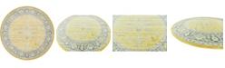 """Bridgeport Home Kenna Ken1 Yellow 8' 4"""" x 8' 4"""" Round Area Rug"""