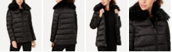 Tahari Faux-Fur-Collar Puffer Coat