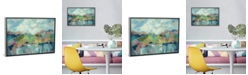 "iCanvas Abstract Lakeside by Silvia Vassileva Gallery-Wrapped Canvas Print - 18"" x 26"" x 0.75"""