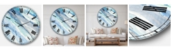 Designart Modern Lake House Oversized Metal Wall Clock