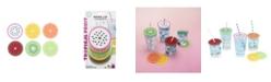 TrueZoo Tropical Fruit Drink Lid Coasters