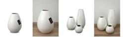 "Le Present Drop Wide Ceramic Vase 8.6"""