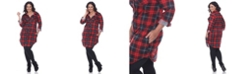 White Mark Plus Piper Stretchy Plaid Tunic