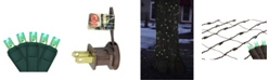 Northlight 2' x 8' Green LED Net Style Tree Trunk Wrap Christmas Lights - Brown Wire