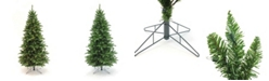Perfect Holiday Pre-Lit Pencil Slim Christmas Tree with Warm White LED Lights Collection