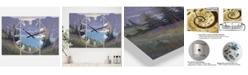 "Designart Iceberg Lake Large Traditional 3 Panels Wall Clock - 23"" x 23"" x 1"""