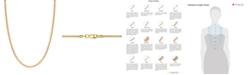 "Macy's 14K Yellow Gold Diamond Cut 1.5 mm Round Box 20"" Chain"
