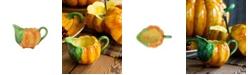 VIETRI Pumpkins Figural Pumpkin Sauce Server
