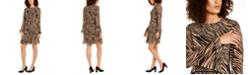 Anne Klein Tiered Zebra Print Dress