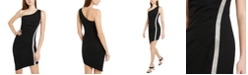 BCX Juniors' Rhinestone-Trim One-Shoulder Dress